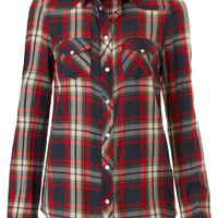 Longsleeve Check Shirt - Tops - Clothing - Topshop USA