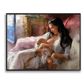 Wall Art Picture Diy Painting By Numbers Paint On Canvas Nursing Mother Love Baby For Home Decor Artwork Baby room decor SZH-62