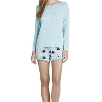 The Lose Yourself Long-Sleeve Shirt in Blue - BCBGeneration