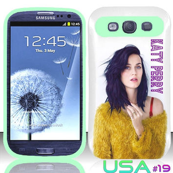 USA Design #19 - Samsung Galaxy S3 Glow in Dark Case # Katy Perry Art @ Cover for Galaxy S3 i9300 case