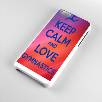 keep calm and love gymnastics art iPhone 5c Case