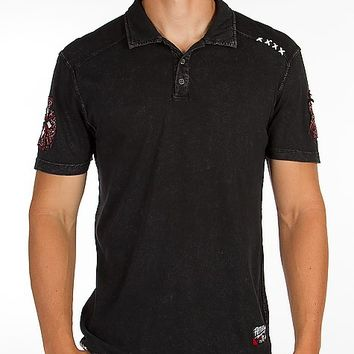 Affliction American Customs Death Cross Polo
