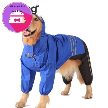 Raincoat For Large Big Dogs Waterproof/ Windproof
