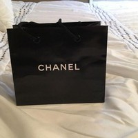 VOND4H CHANEL GIFT BAG SMALL AUTHENTIC SHOPPING PAPER SIGNATURE DRAWSTRING BAG
