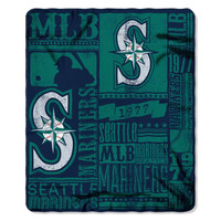 Seattle Mariners MLB Light Weight Fleece Blanket (Strength Series) (50inx60in)