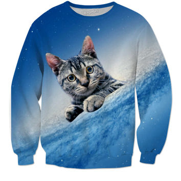 Spiral Galaxy Cat Sweater