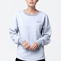 Diamond Supply Co Stone Cut Crew Neck Sweatshirt - Womens Hoodie - Salt