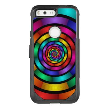 Round and Psychedelic Colorful Modern Fractal Art OtterBox Commuter Google Pixel Case