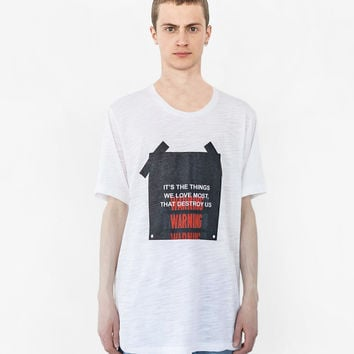 The Things We Love Warning Label Tee in White Marble