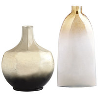 Gold & Pearlized Ombre Vases