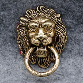 All-metal Retro lion head  Finger Ring Mobile Phone Stand Holder For iPhone5 6S Smartphone tablet
