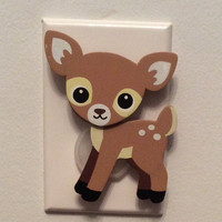 Outlet Cover, Deer Outlet Plug In, Nursery Decor, Baby Nursery Decor