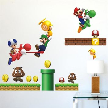 Super Mario party nes switch  Wall Stickers For Kids Room Decoration Cartoon Game Fans Wall Decals Art Children Birthday Gift AT_80_8