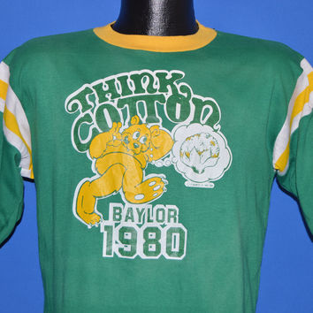 80s Baylor Think Cotton Bowl 1980 Jersey t-shirt Medium