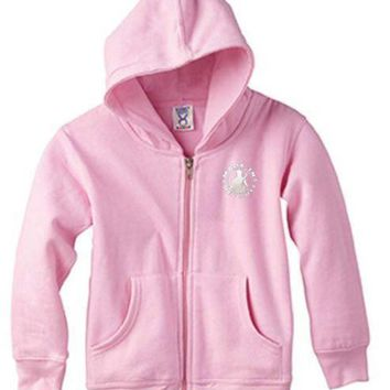 DCCKG8Q Made in Detroit Toddler Full Zip Hoodie - Pink