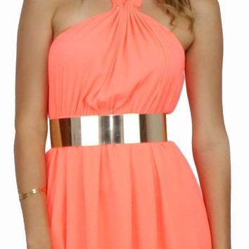 Flawless & Grommet Coral Swing Dress