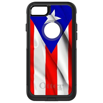 DistinctInk™ OtterBox Commuter Series Case for Apple iPhone or Samsung Galaxy - Red White Blue Puerto Rico Flag