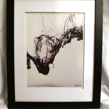 10x13 Canvas - Framed - Abstract Ink - 50% Off - Signed & Numbered (#9/10) - S. Joseph Walker Photography - Only 2 Remaining