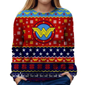 Wonder Woman Christmas Womens Sweatshirt