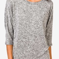 Heathered Dolman Top