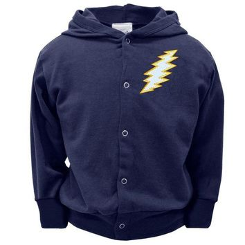 DCCKU3R Grateful Dead - Navy Bolt Toddler Snap Hoodie