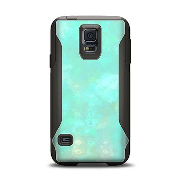 The Bright Teal WaterColor Panel Samsung Galaxy S5 Otterbox Commuter Case Skin Set