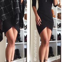 All Drape Mini Dress