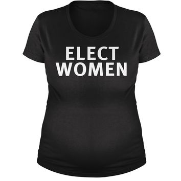 Elect Women Maternity Pregnancy Scoop Neck T-Shirt