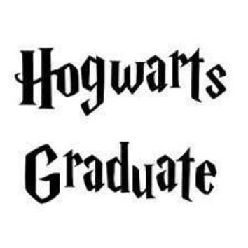 Hogwarts Graduate Harry Potter  Vinyl Car/Laptop/Window/Wall Decal
