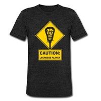 Caution: Lacrosse Player T-Shirt | Spreadshirt | ID: 9059378