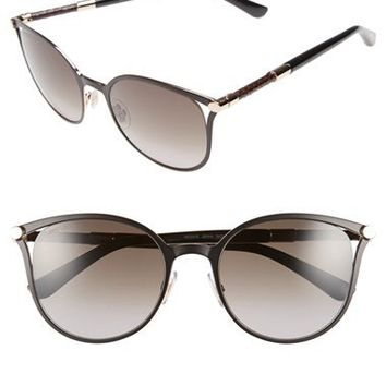 Jimmy Choo 'Neizas' 54mm Metal Sunglasses | Nordstrom