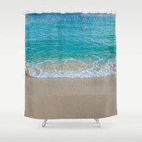 Atlantic Waves Shower Curtain by Mary Andrews