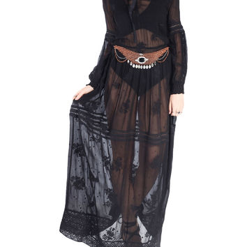 High Priestess Embroidered Sheer Maxi Dress | Lord & Taylor