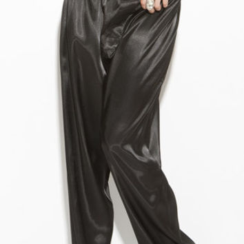 Black Satin Sleepwear Pants