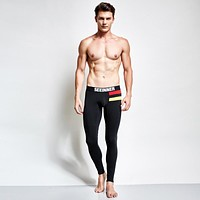 Men's SEEINNER warm Pants Sexy thermal underwear long johns mens Sleep Bottoms Thin elasticity Leggings Man Gay Tight trousers