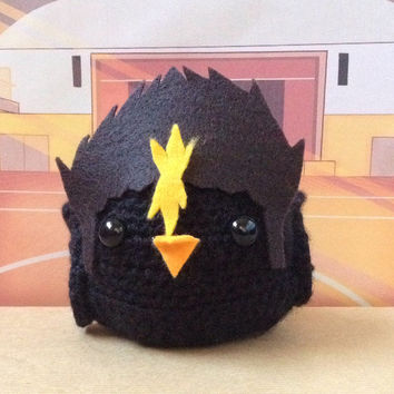 Haikyuu!! Nishinoya Yuu Amigurumi Bird (MADE TO ORDER)