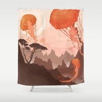Eclipse Shower Curtain by Alex Craig