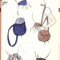 40s Shoulder Bag purse waist purse belt Vintage sewing pattern Hollywood 1757 Sz Small to Large