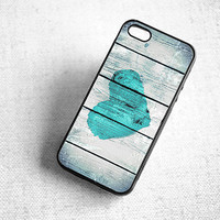 Shabby Chic Rustic Love iPhone 5 Case - Heart Color like Tiffany Blue or Create your Own