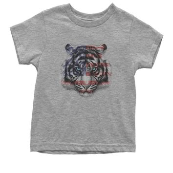 American White Tiger USA Flag Youth T-shirt