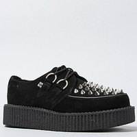 T.U.K. The Low Sole Creeper in Black Suede and Silver Spikes : Karmaloop.com - Global Concrete Culture
