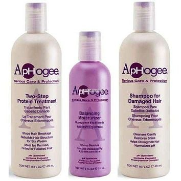 Aphogee Two-Step Protein Treatment, Shampoo and Balancing Moisturizer