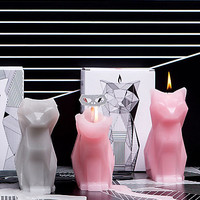 Pyropet Kisa Pink Skeleton Cat Candle