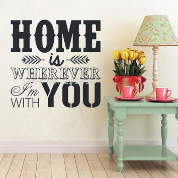 Custom-made Vinyl Wall Stickers Home is wherever I'm with you, size 40*40 cm
