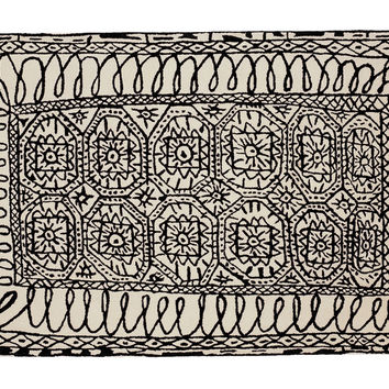 black on white collection estambul rug