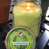 Natural Lemongrass Mosquito Repellent Candle
