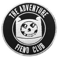 Adventure Fiend Club Patch - Misfits X Adventure Time Mashup.