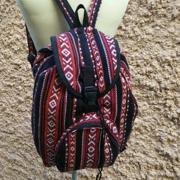Aztec Boho Tribal Backpack Festival Bags Travel bag Laptop Diaper Hippies Ethnic Hobo Styles Hipster Native Pattern Beach School Messenger