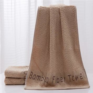 Solid Bamboo Fiber Bath Towel High Quality Thickening Increase Soft Comfortable Big Face Towel Water Absorption Jacquard Towels