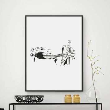 Minimalist art drawing, Minimalist print, Abstract pencil sketch, Fine art Print, Printable wall art, Modern Home Decor, DIGITAL FILES